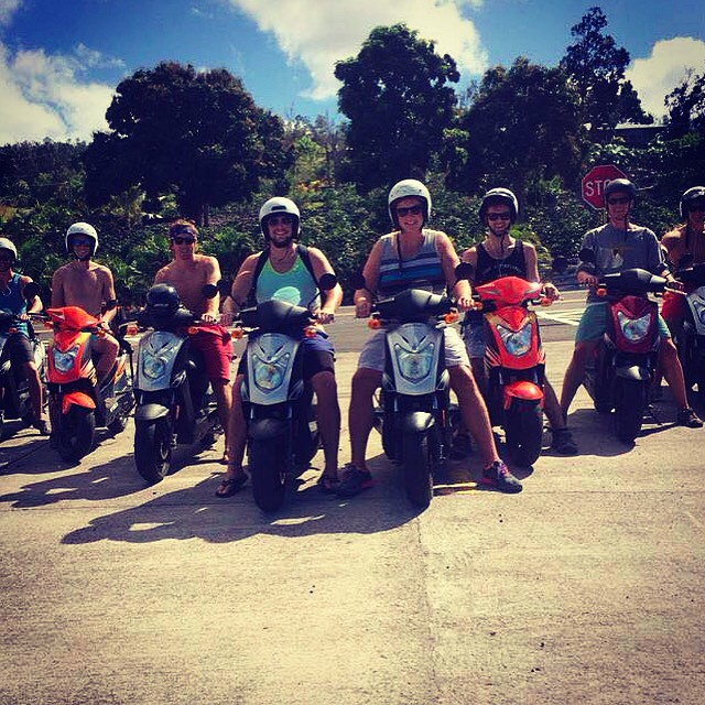 A Group ride on Big Island Kona Moped Rentals
